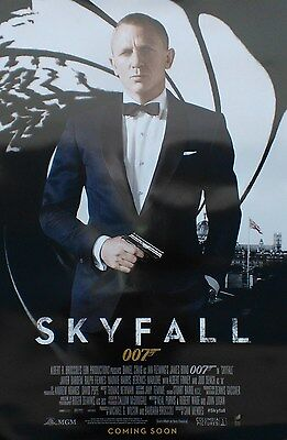 Skyfall Intl Coming Soon Original Double Sided Movie Poster 27X40