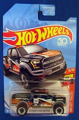 2018 Hot Wheels TRUCKS '17 FORD F-150 RAPTOR - Black
