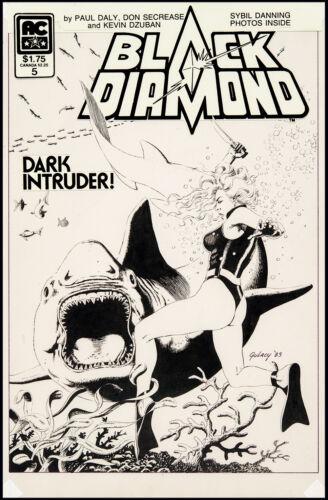 Black Diamond #5 Cover Art by Paul Gulacy Sybil Danning 1984
