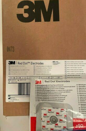 3M 2560 Red Dot Monitoring ECG Electrodes - Case of 1000