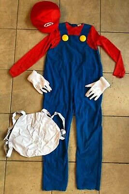 Dress Up Mario And Luigi (Mario Brothers Costume Deluxe-DRESS UP-Youth Size)