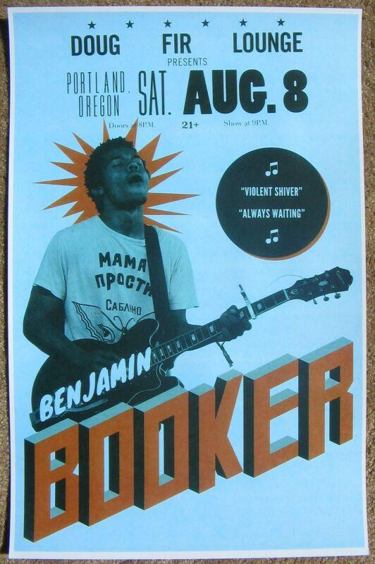 BENJAMIN BOOKER 2015 Gig POSTER Portland Oregon Concert