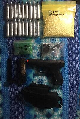 Airsoft Pistol GBB 'Umarex Walther' P99 CO2 Blowback (Black) -BUNDLE- P99 Pistol Gun