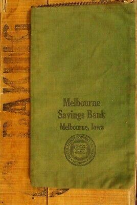 1920s Style Purses, Flapper Bags, Handbags 1920's-1930's Canvas Melbourne Savings Bank Bag Melbourne Iowa USED No. 2 $20.00 AT vintagedancer.com