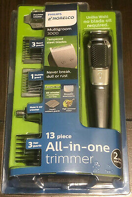 Philips Norelco Multigroom 3000 All-in-one trimmer 3 Hair Guards 13pc NEW SEALED