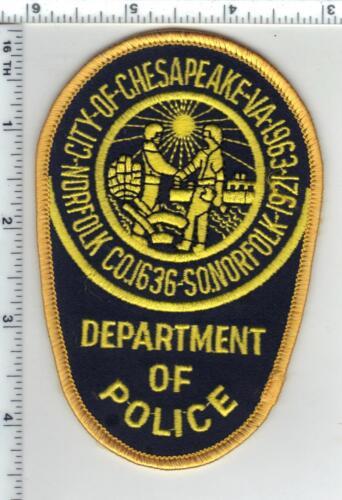 City of Chesapeake Police (Virginia) Uniform Take-Off Shoulder Patch 1980