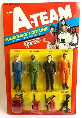 Vintage The A Team Carded Figures Galoob 1983 Retro Rare