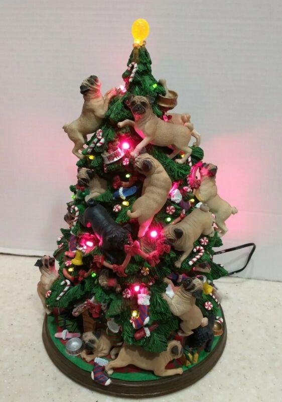 Danbury Mint Pug Christmas Tree