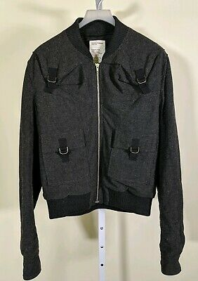 Hussein Chalayan Archive Vintage Bondage Bomber Jacket D Ring Straps 44 Italy