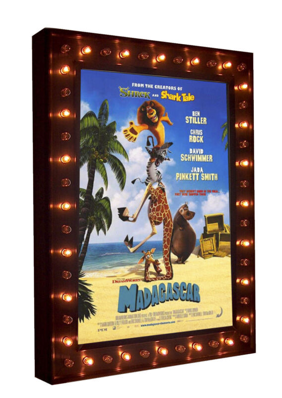 Home Theater Movie Poster LED Lightbox Marquee Poster Case with Chase Lights