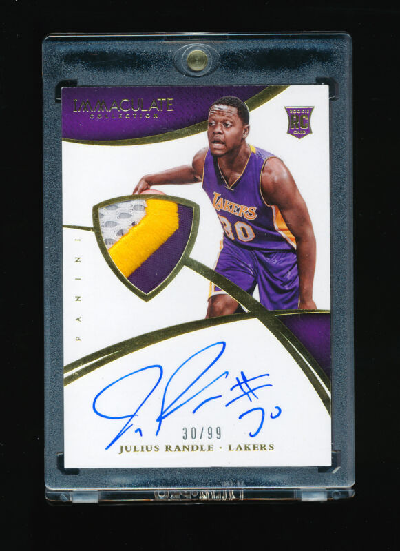 Julius Randle 2014-15 Panini Immaculate Auto Patch Jersey Number 30/99 *lakers*