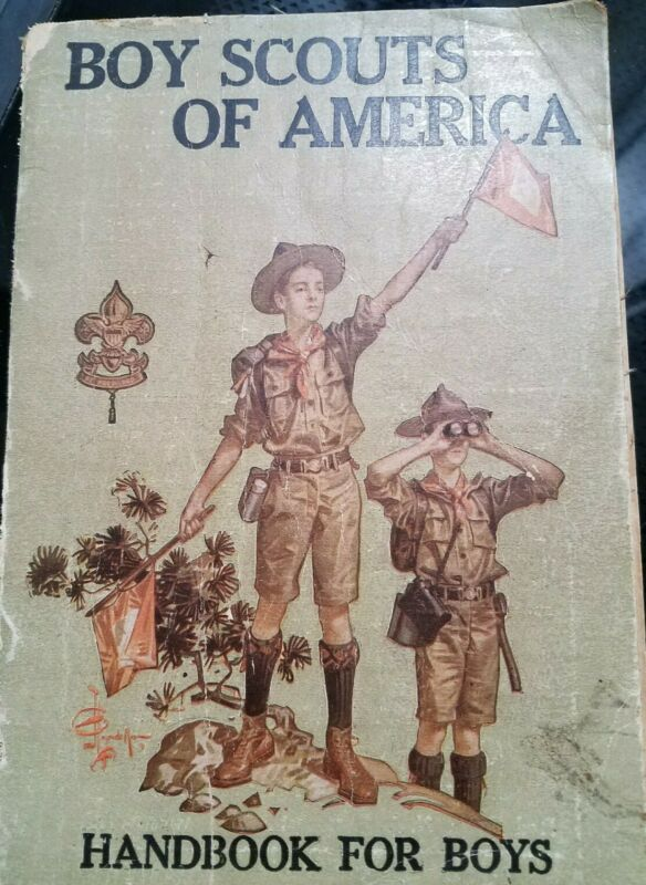 Boy Scouts of America Handbook  1919  20th ed cloth cover vintage book