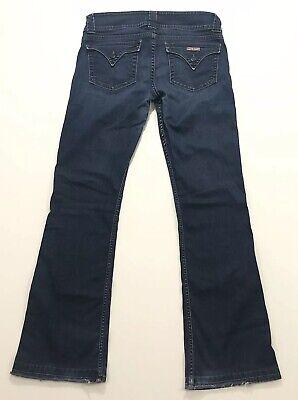 Hudson Women's Signature Boot Cut Pocket Flap Dark Wash Jeans size 31x32 1/2