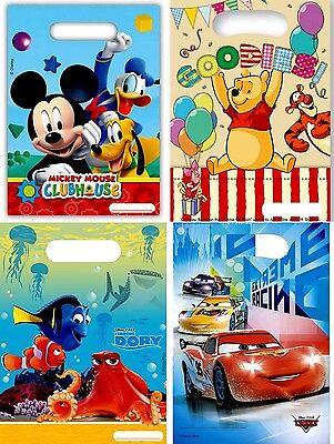 6 Stück Geschenktüte Cars Dorie Winnie Pooh Mickey Mouse Geschenktasche Geschenk
