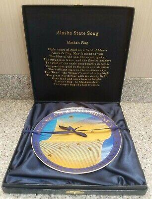 Alaska's 50th Anniversary of Statehood Commemorative Porcelain Plate Alaska