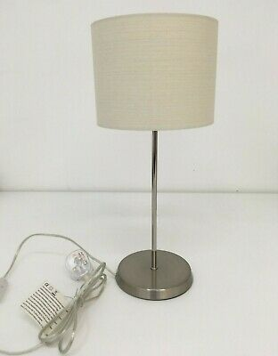 Habitat Suryo Table Lamp, Brushed Metal, Ivory Shade for sale  Shipping to Ireland