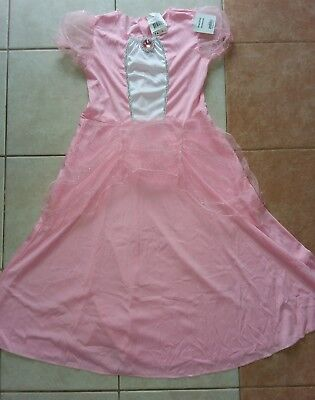 NWT GIRL 8/10 MEDIUM M W/SIZE CHART PINK PRINCESS DRESS HALLOWEEN COSTUME PARTY