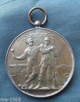 original alte Medaille Italien  Patria  Auszeichnung