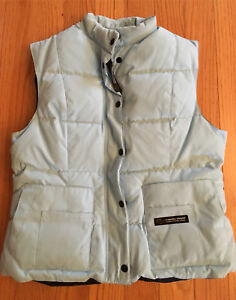 Light blue Canada Goose down vest (women's large)