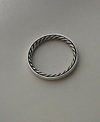 David Yurman Cable band narrow ring 3mm wide 925 sterling silver size 6
