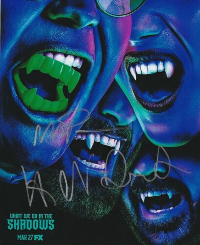 * WHAT WE DO IN THE SHADOWS * signed 8x10 photo * NOVAK, NATASIA & BERRY  * 1