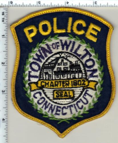 Town of Wilton Police (Connecticut) Uniform Take-Off Shoulder Patch from 1989
