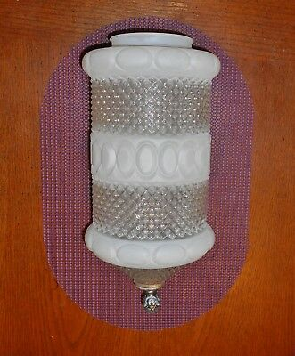 CLEAR & FROSTED GLASS CYLINDER PENDANT SHADE & FINIAL 4 inch FIT