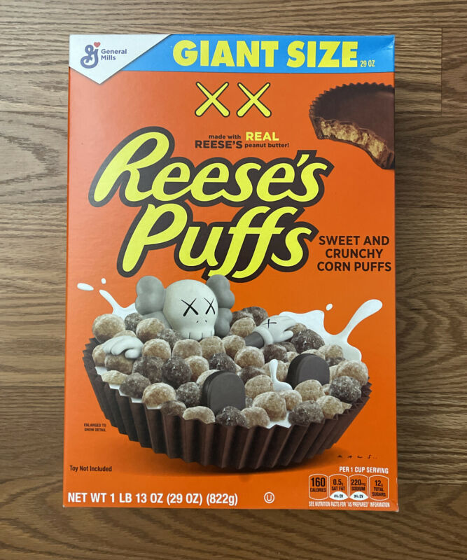 KAWS Giant Size Reese's Puffs Cereal Companion Limited Edition