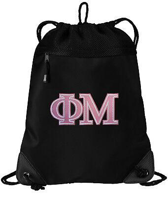 Phi Mu Sorority Drawstring Bag BEST PHI MU Backpacks COOL MESH &