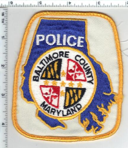 Baltimore County Police (Maryland) uniform take-off shoulder patch from 1980