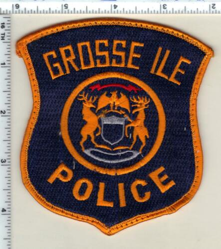 Grosse Ile Police (Michigan) Uniform Take-Off Orange Shoulder Patch from 1992
