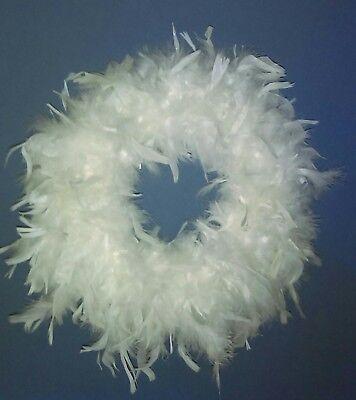 Feather Wreath (White Feather Wreath 15