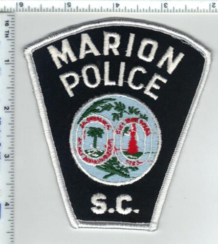 Marion Police (South Carolina) Shoulder Patch from the 1980