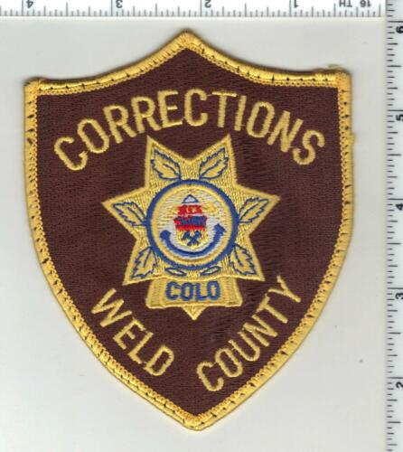 Weld County Corrections (Colorado) 1st Issue Uniform Take-Off Shoulder Patch