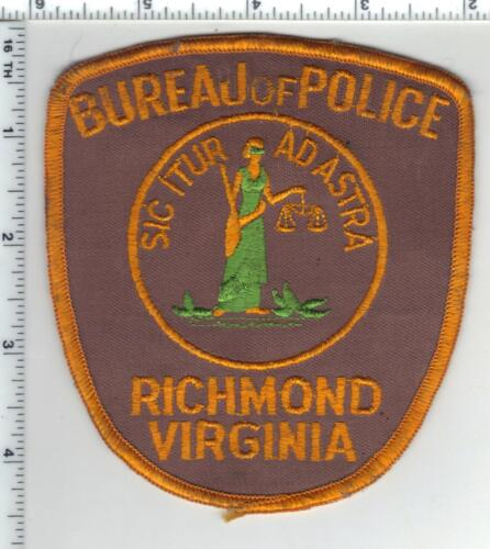 Richmond Bureau of Police (Virginia) Shoulder Patch from a wall display