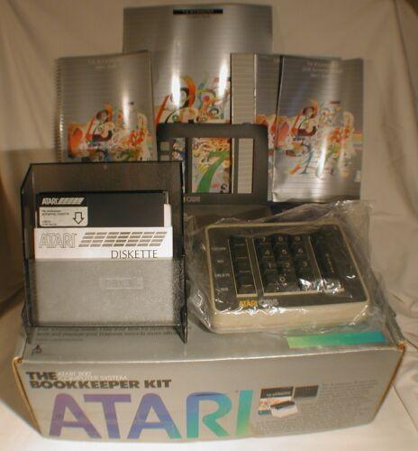 Vintage Atari 800 The Bookkeeper Kit Computer Software Guides Original Box CX85