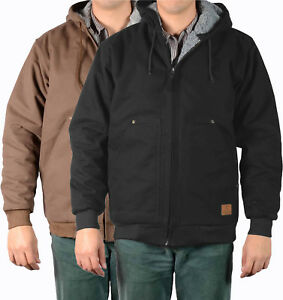 Mens Jackets Ben Davis Canvas Shell with Hooded, Fleece/Sherpa Lined Jacket