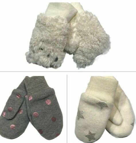 NWT GAP Baby Mittens XS/S-S/M-M/L Cream Gray