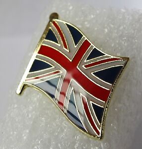 Union Jack Flag Pin Badge Great Britain  High Quality Gloss Enamel