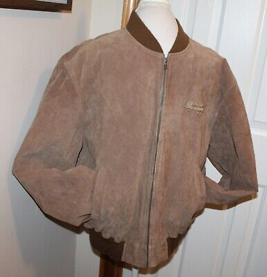 Vintage IDENTITY Brown Suede Leather Jacket 'SAHARA' - POWER STROKE DIESEL - L