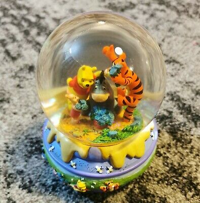 Disney Winnie the Pooh, Piglet, Eeyore and Tigger Picking Flowers Snow Globe
