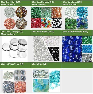 14 oz GLASS GEMS MARBLES SEA GLASS VASE FILLER AQUARIUM GRAVEL MOSAIC - Vase Gems