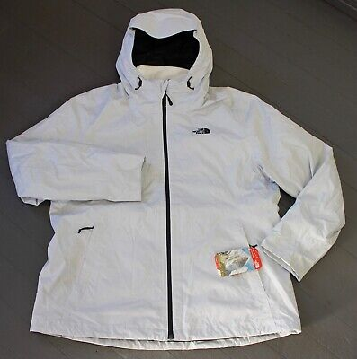 The North Face Women's Arrowood Triclimate Jacket, White Dobby, Size XXL