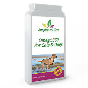 Omega 3,6,9 Fish Oil Complex 1000mg with Vitamin E for Cats & Dogs, 120 Softgels