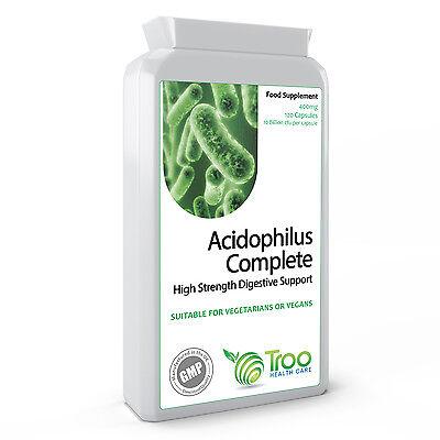 Acidophilus 400mg 10 Billion CFU 120 Capsules - High Strength Probiotic Blend