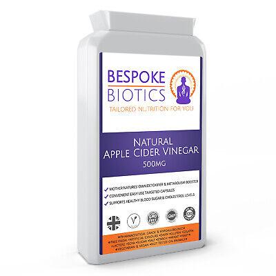 Natural Vinagre de Sidra Manzana 500mg 120 Cápsulas a Medida Biotics