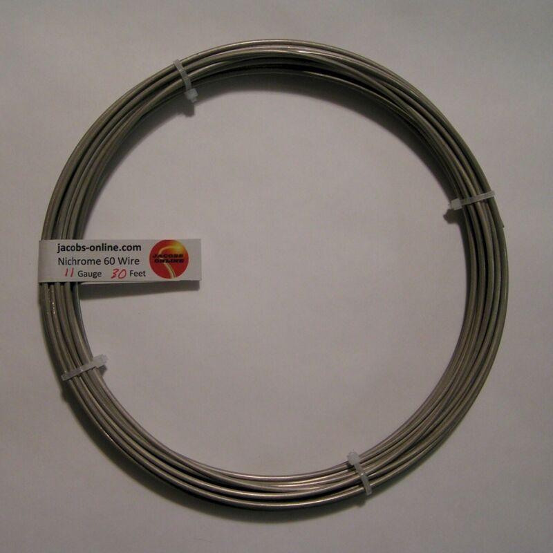 Nichrome 80 resistance wire, 11 AWG (gauge), 30 feet