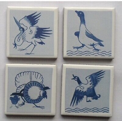 ARTS AND CRAFTS WILLIAM MORRIS, PHILIP WEBB , RED HOUSE FRIDGE MAGNET TILE SET