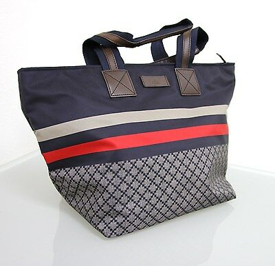 cbc83a75169 NEW Authentic GUCCI Unisex Diamante Tote Travel BAG Blue w BRB web