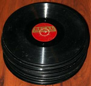 Bulk lot of old 78 RPM records for display, art, interior design. Richmond Yarra Area Preview